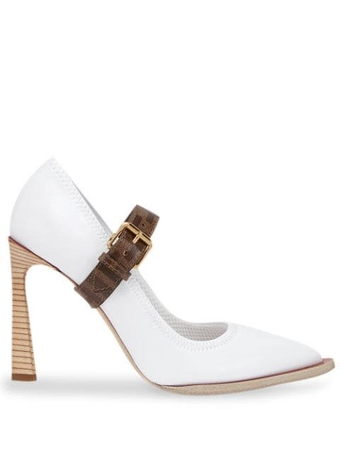 Fendi Mary Jane FFrame Strap Pumps