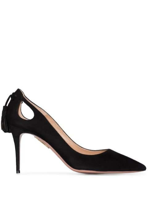 Aquazzura Marilyn Forever 85 Suede Pumps