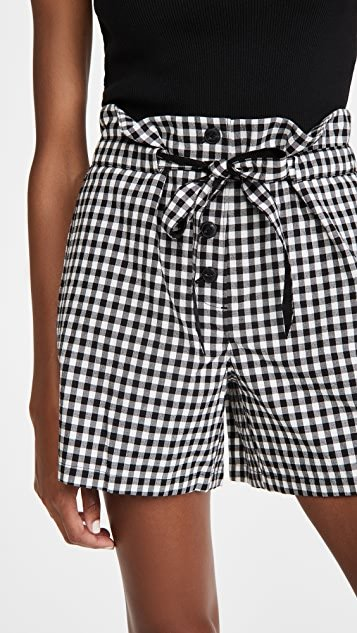 Camille Gingham Shorts