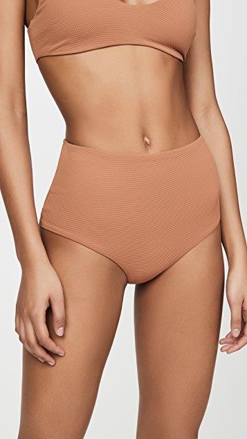 Pique Isla High Waisted Bikini Bottoms