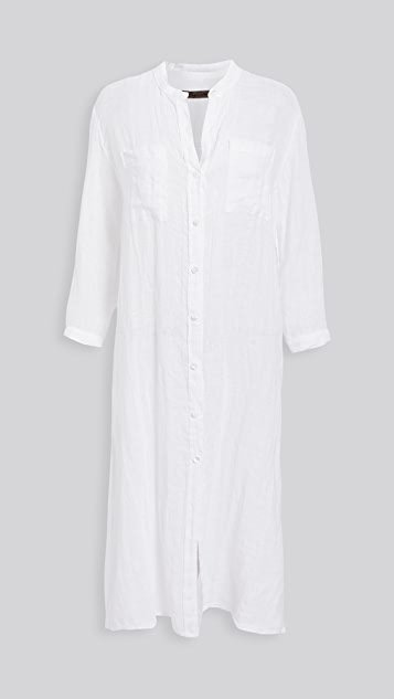 Linen Gauze Shirtdress