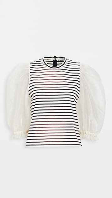 James Organza Sleeve Tee