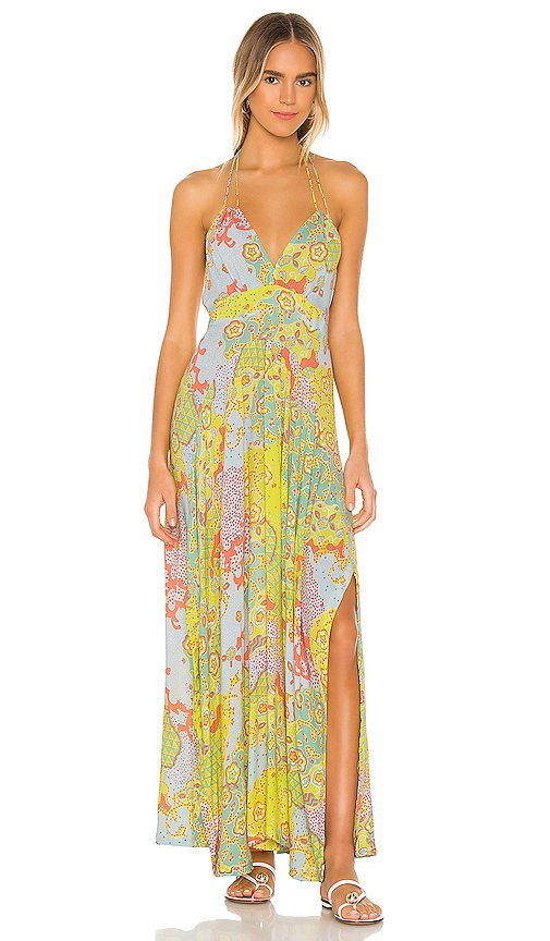 Ollie Flounce Maxi Dress
