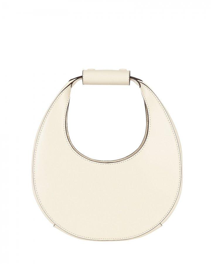 Mini Moon Leather Hobo Bag