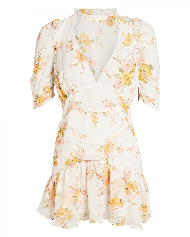 Arlo Floral Silk Mini Dress
