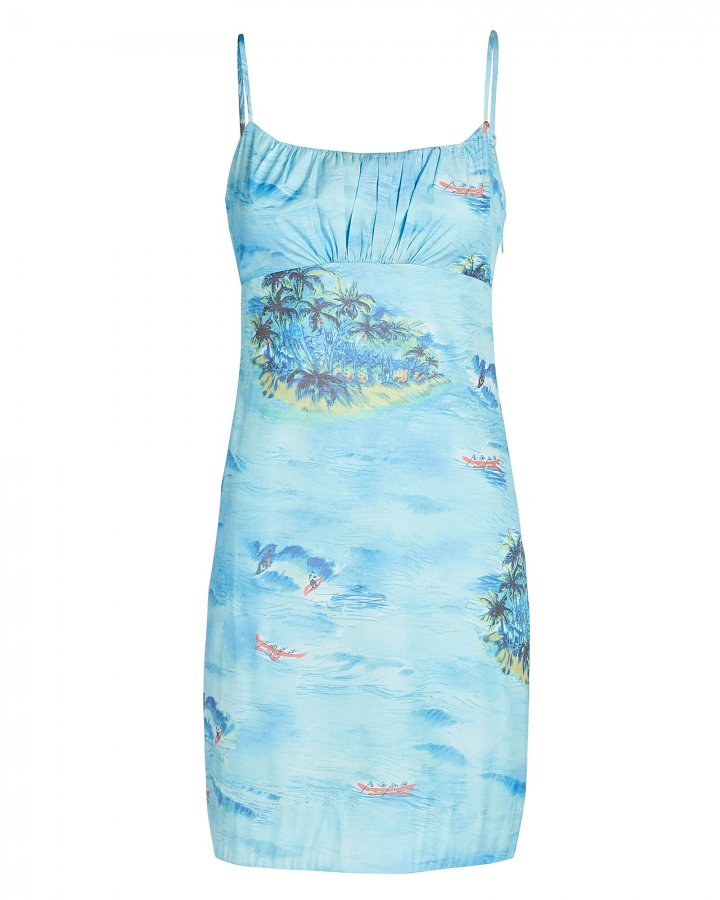Belle Printed Sleeveless Mini Dress