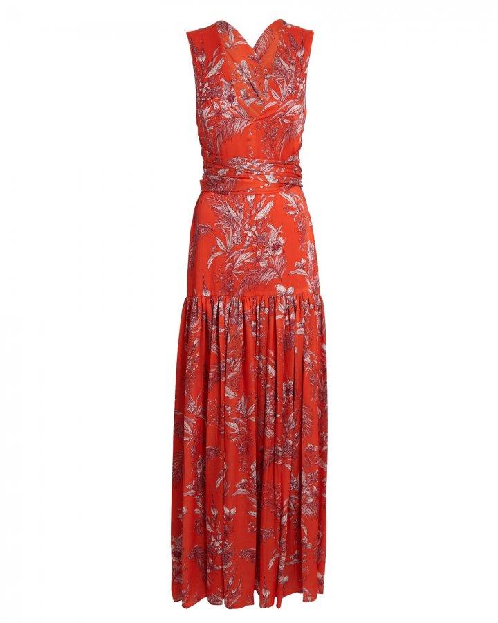 Belaya Floral Maxi Wrap Dress