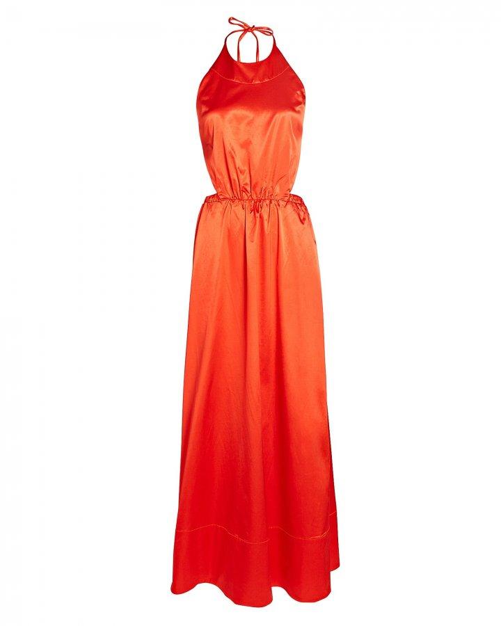 Sidney Satin Cotton-Blend Maxi Dress