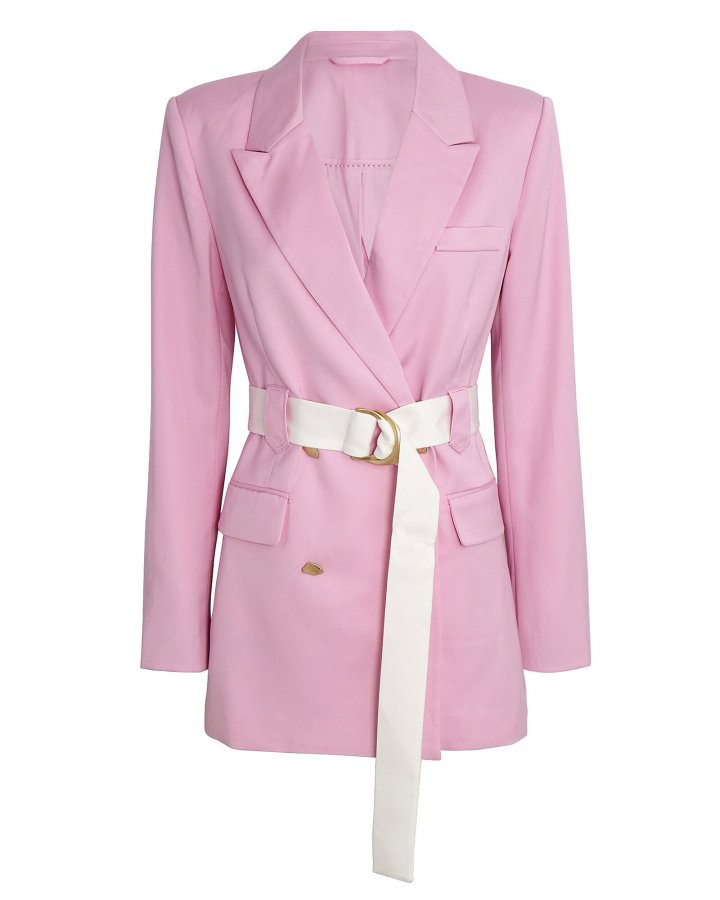 Psychedelia Belted Double-Breasted Blazer