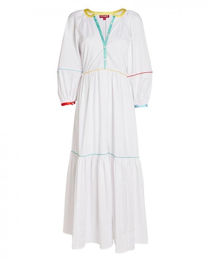 Demi Tiered Poplin Maxi Dress