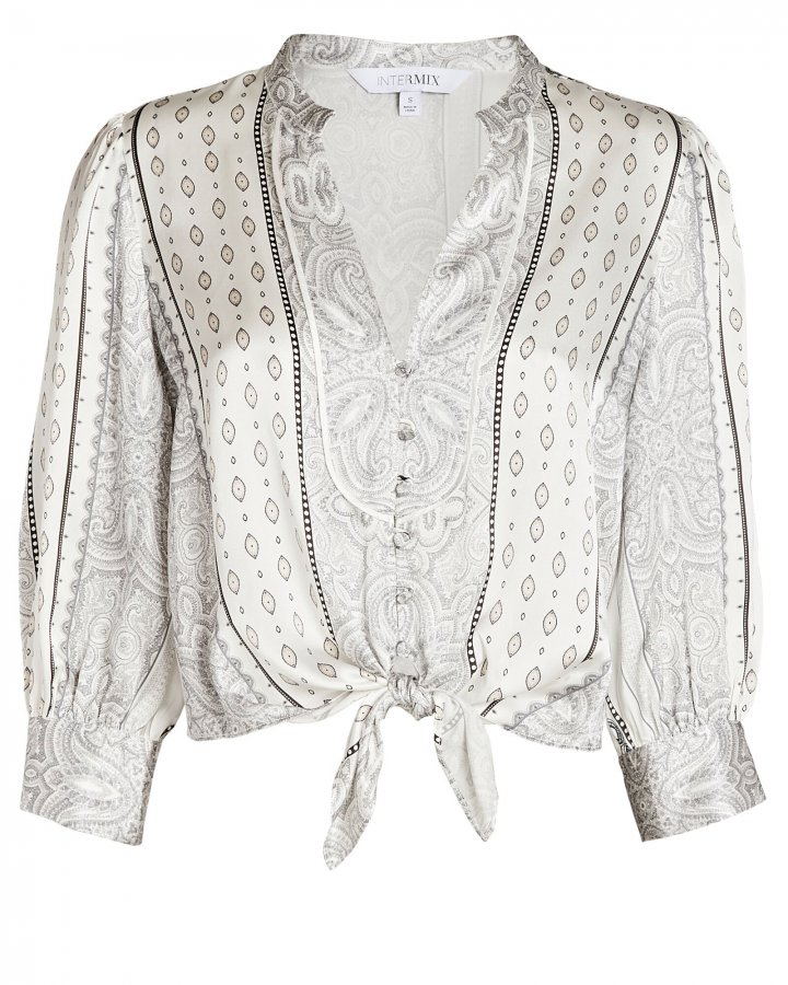 Hope Tied Silk Paisley Shirt