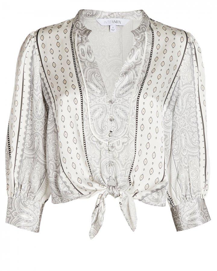 Hope Tied Silk Paisley Shirt