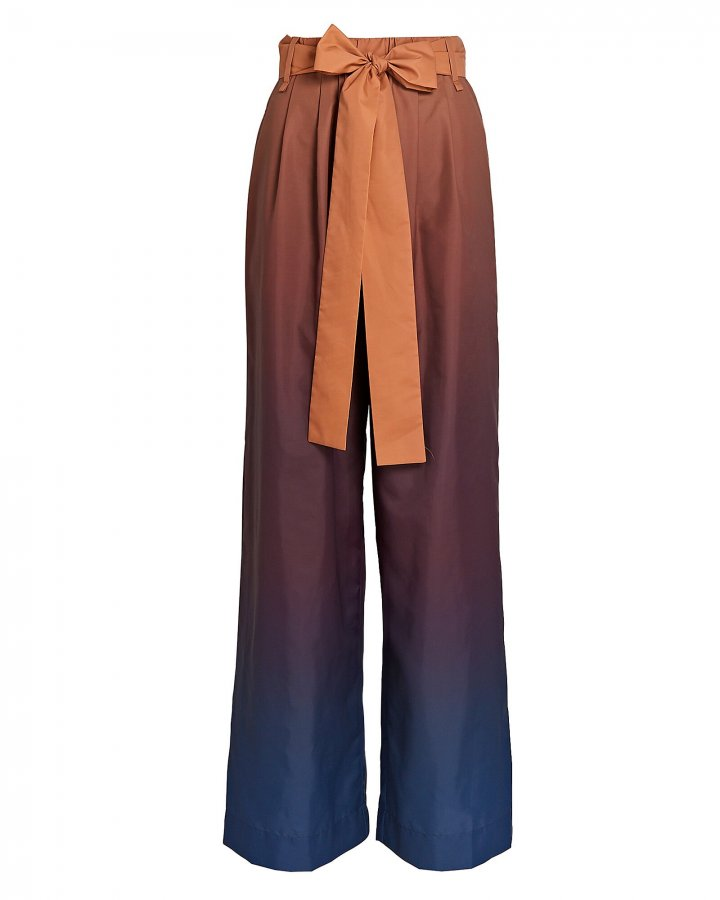 Winnie Ombré Belted Wide-Leg Pants