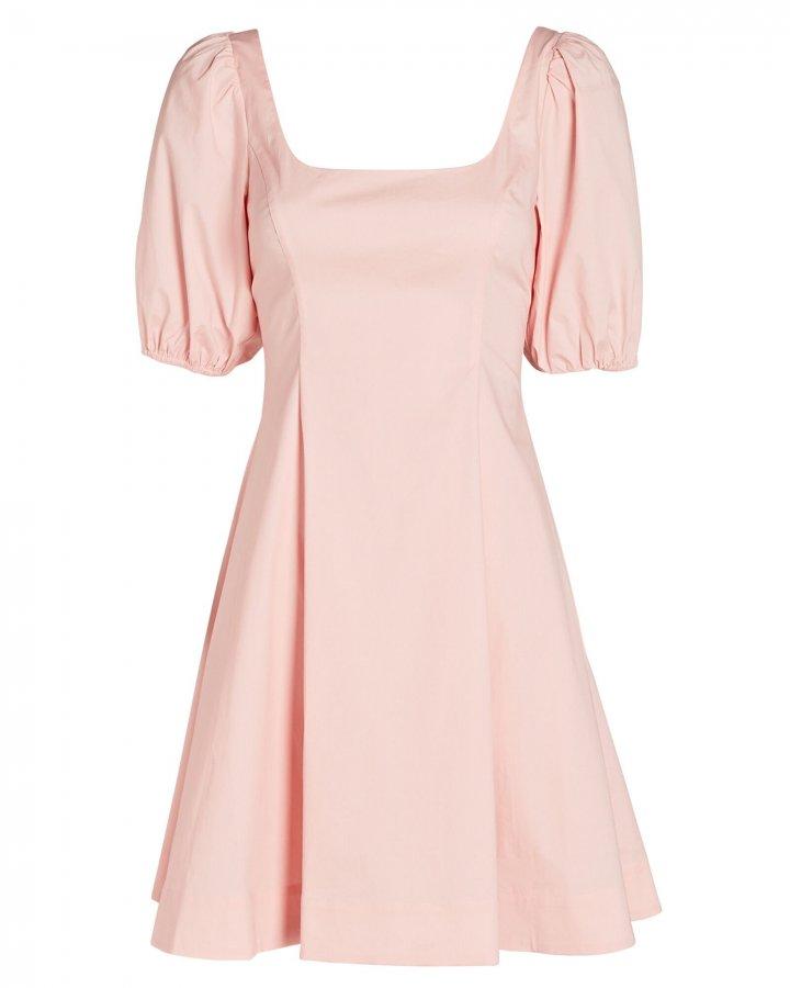 Laelia Poplin Puff Sleeve Mini Dress