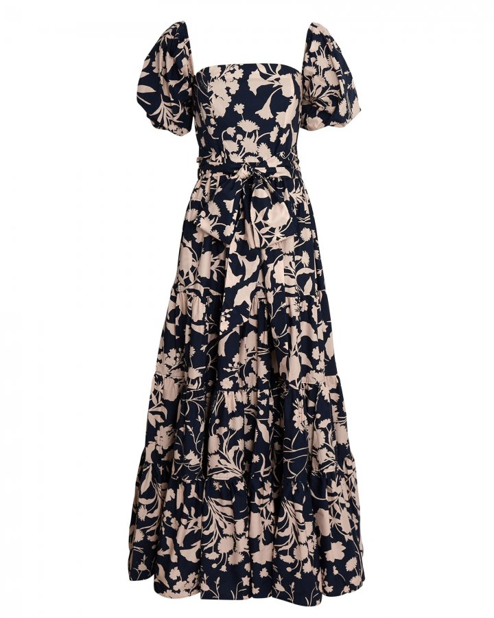 Wethersfield Floral Puff Sleeve Maxi Dress
