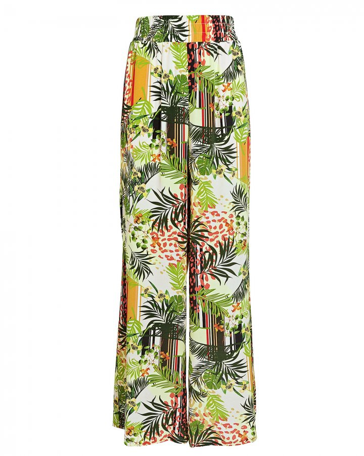 Oaklyn Printed Silk Pants