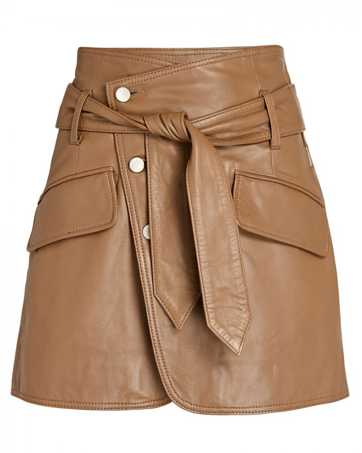 Katrina Leather Mini Skirt