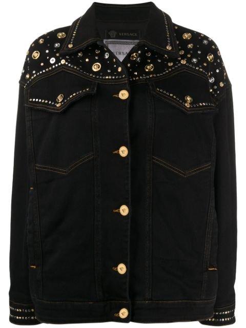 Versace Western Studded Denim Jacket