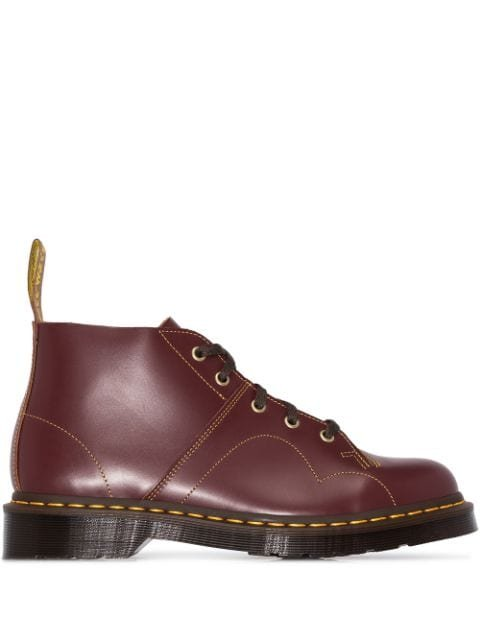 Dr. Martens Church Leather Ankle Boots