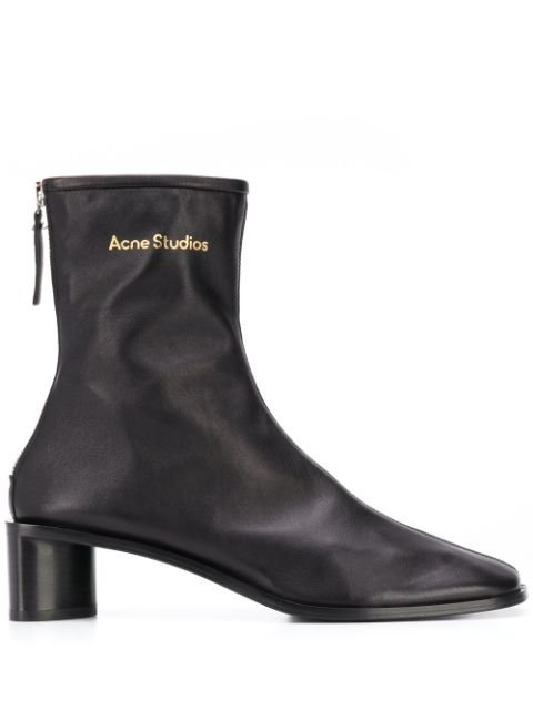 Acne Studios logo-print Leather Boots