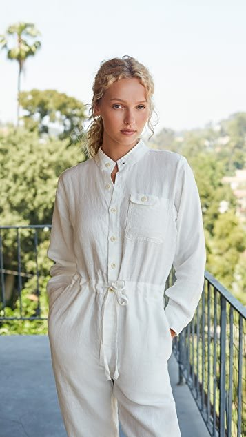 Logan Jumpsuit In Linen