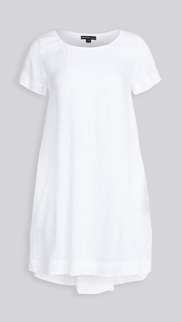 Back Pleat Shift Dress