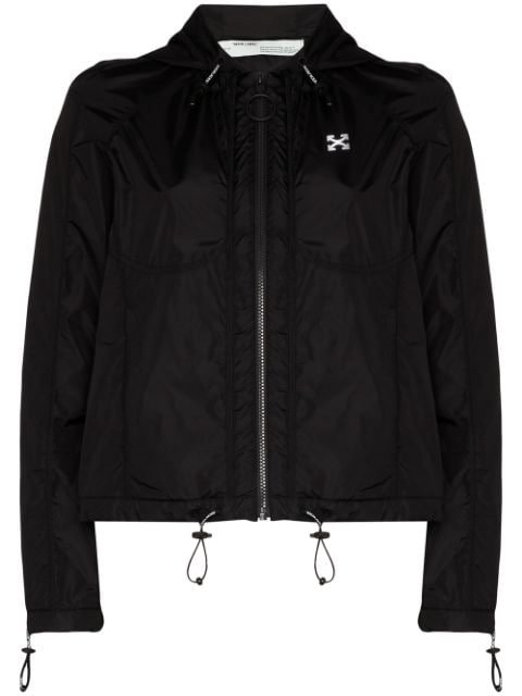 Off-White Hooded Windbreaker Jacket Ss20 | Farfetch.com