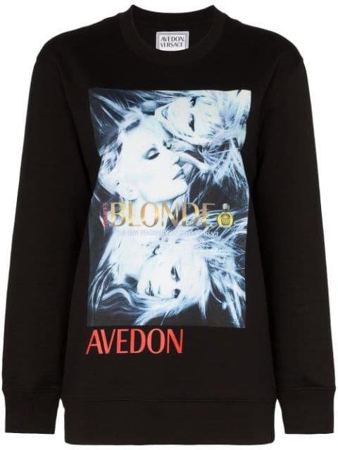 Versace Donatella Print Sweatshirt Aw19 | Farfetch.com