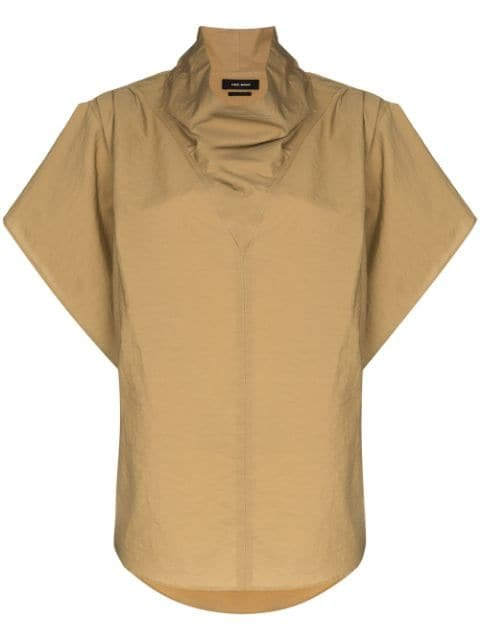 Isabel Marant funnel-neck short-sleeve Top