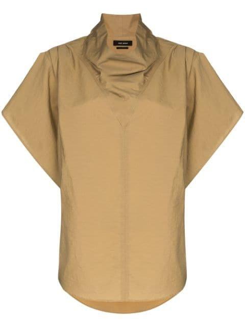 Isabel Marant funnel-neck short-sleeve Top