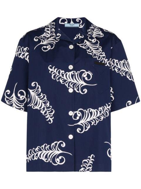 Prada Leaf Print Shirt