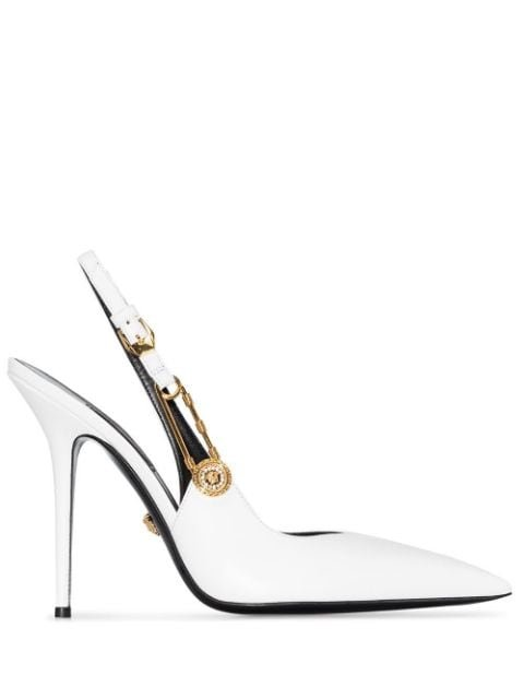 Versace Safety Pin Pumps Ss20 | Farfetch.com