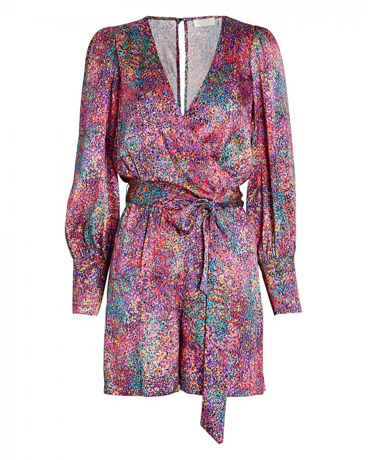 Passion Silk Confetti Print Playsuit