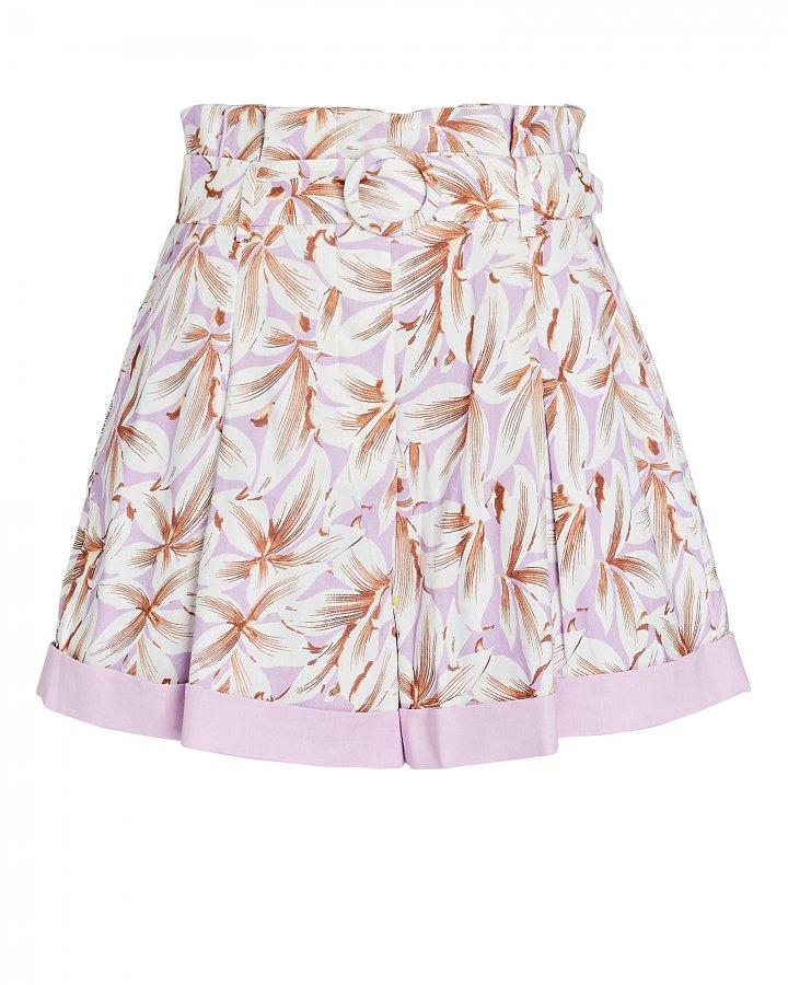 Lillian Belted Floral Paperbag Shorts