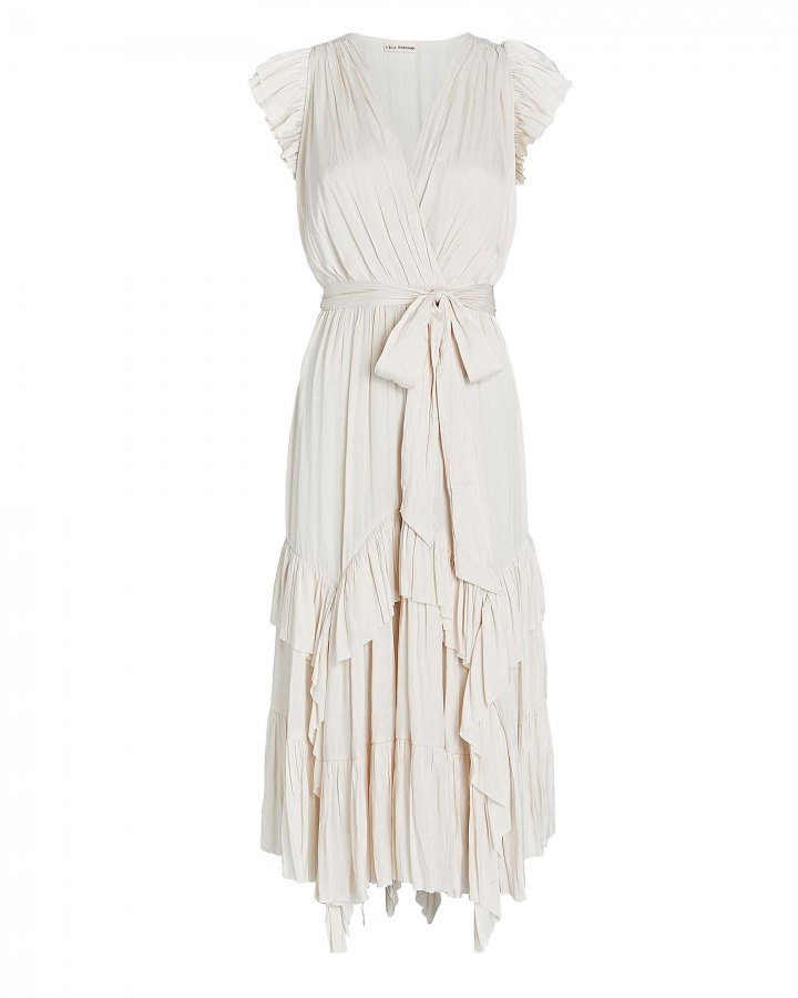 Abella Pleated Midi Dress