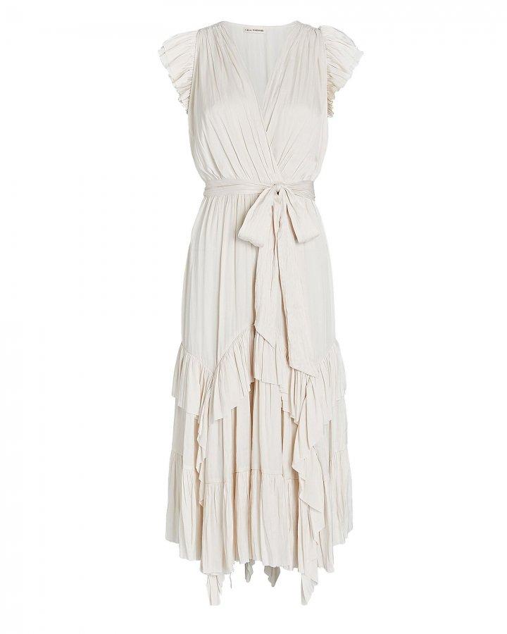 Abella Pleated Midi Dress