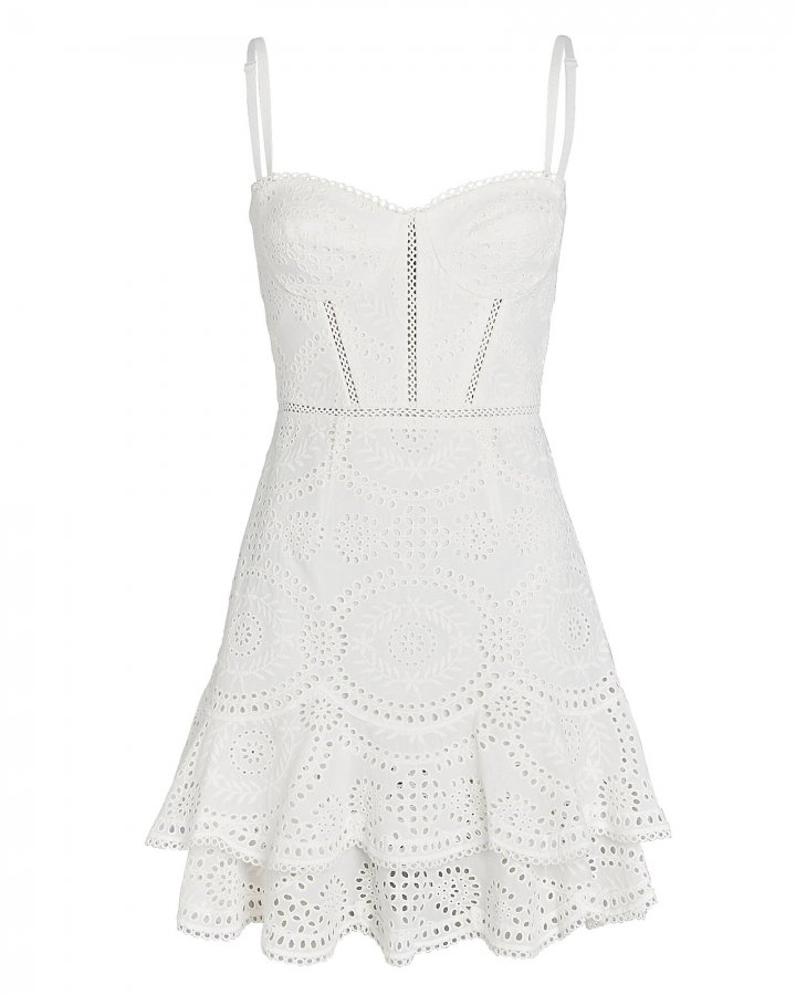 Broderie Anglaise Bustier Mini Dress