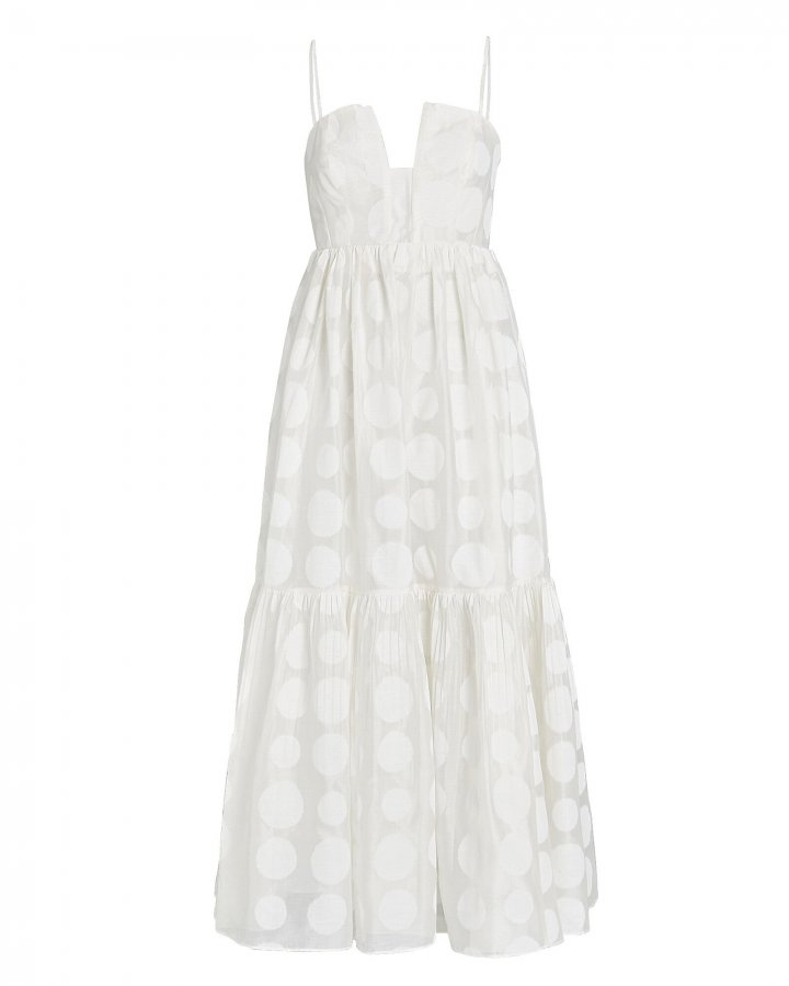 Aimie Polka Dot Maxi Dress