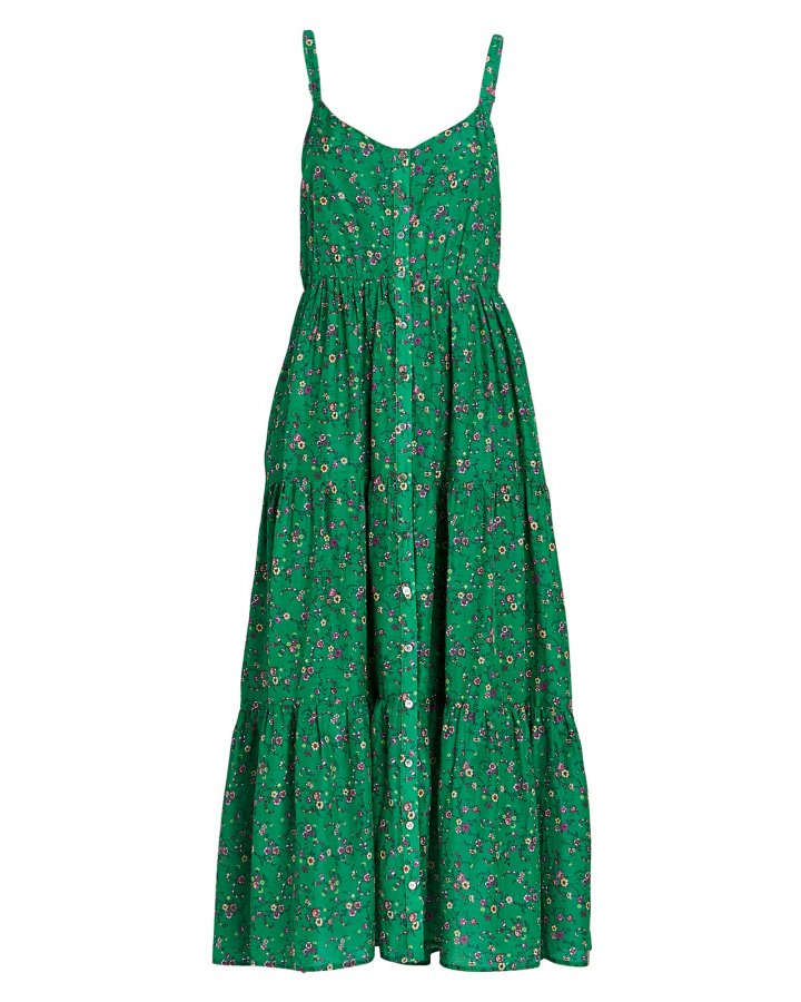 Sophia Floral Silk-Cotton Dress