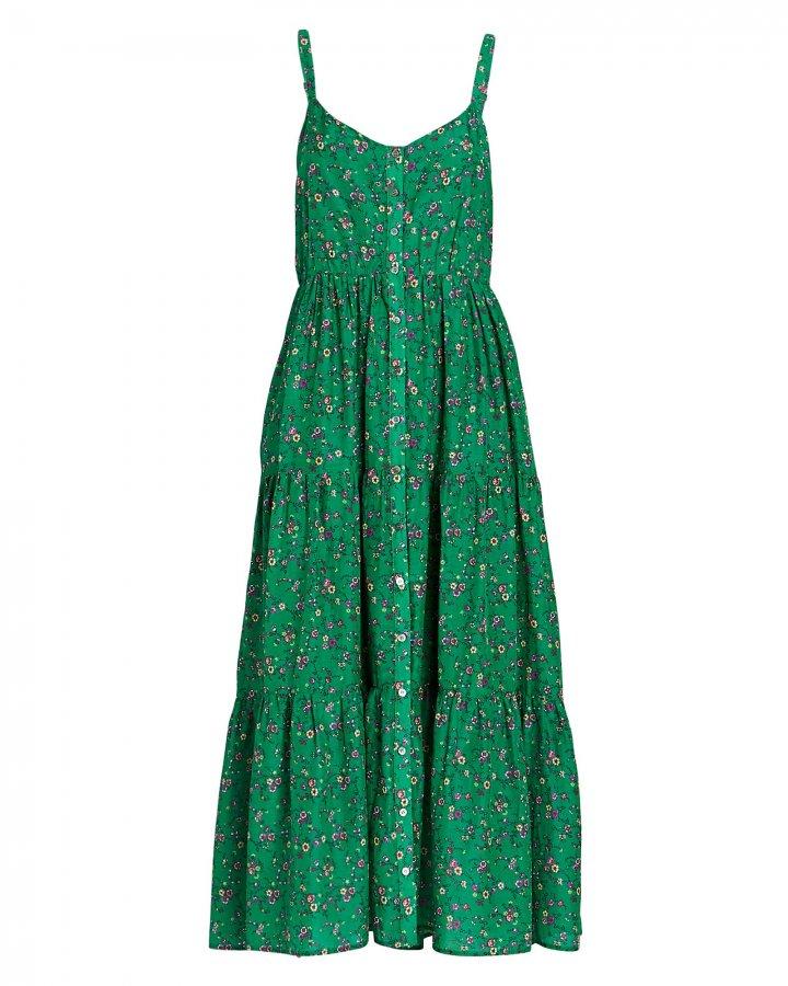 Sophia Floral Silk-Cotton Dress