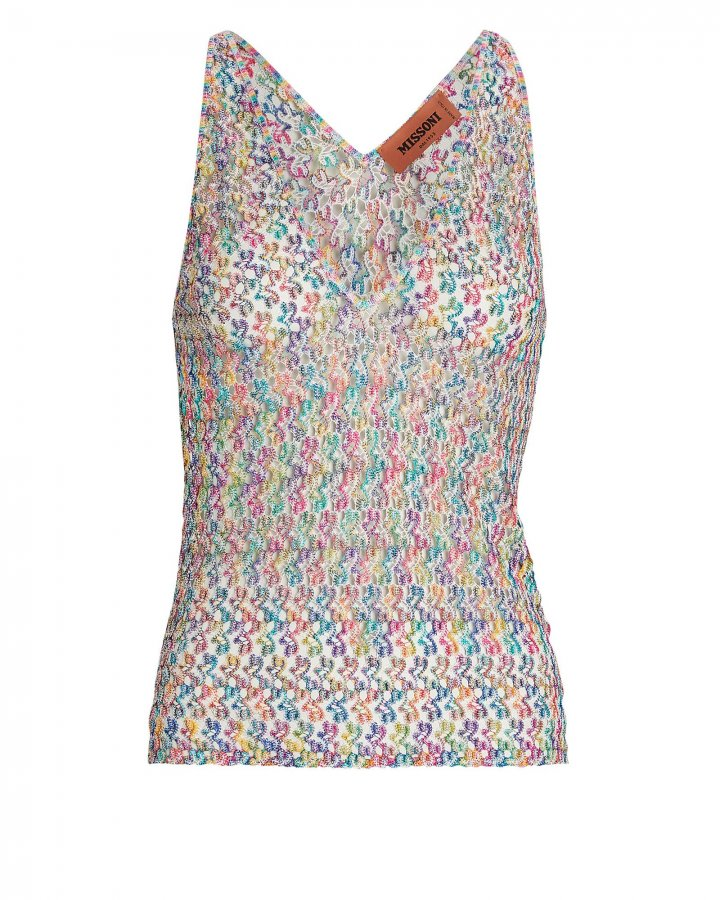 Crochet Rainbow Knit Tank Top