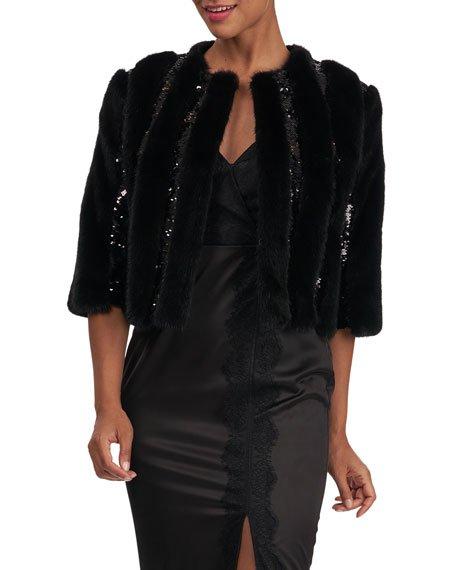 Mink Fur Jacket With Sequins