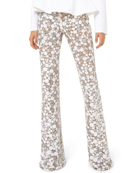 Embroidered Flare Pants