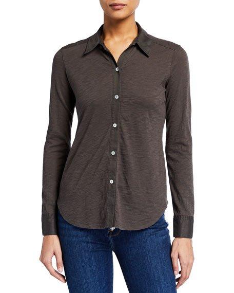 Riduro Organic Cotton Button-Down Shirt