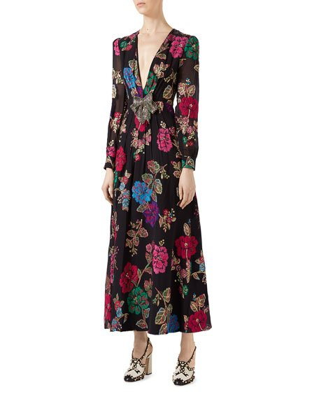 Flower Garden Fil Coupe Gown