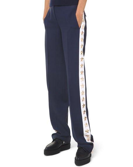Star Side-Taped Tuxedo Pants