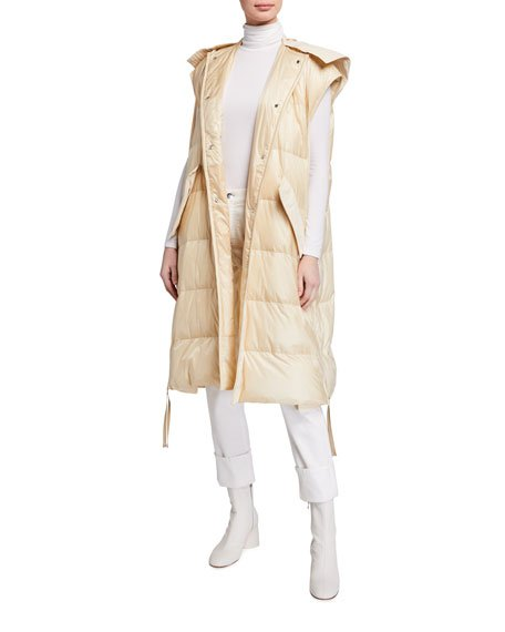 2 Moncler 1952 Camellias Long Vest