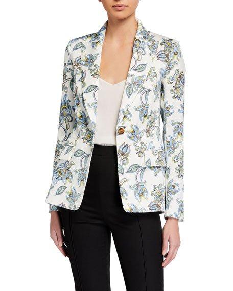 Bikinati Floral-Paisley Blazer Jacket