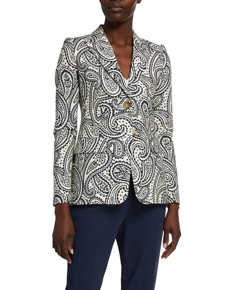 Bick Paisley Stretch-Cotton Blazer