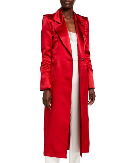 Laura Satin Trench Coat